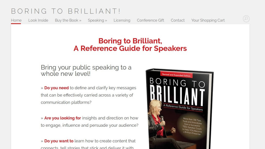 Boring to Brilliant, A Speakers Guide